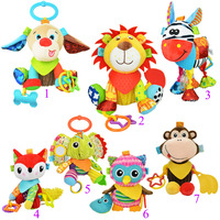 Sozzy 7 Style Cute Baby Musical Mobile Crib Bed Toys Newborn Animal Plush Stuffed Rattles Stroller