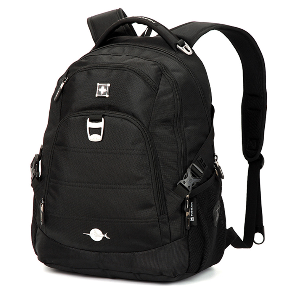 Suissewin New Designed Men's Backpacks Swiss  Waterproof Nylon Laptop Backpack gear Black Mochila Masculina Bag Pack For Student outdoors waterproof nylon backpacks molle tactics backpacks laptop backpacks military backpack rucksacks travel bag pack