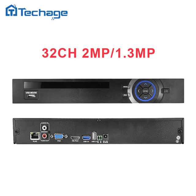 HI3535 HD 32CH 1080 P CCTV NVR ONVIF IP Cámara de Seguridad sistema de vigilancia video recorder motion detectar ftp 3g wifi 2 sata puerto