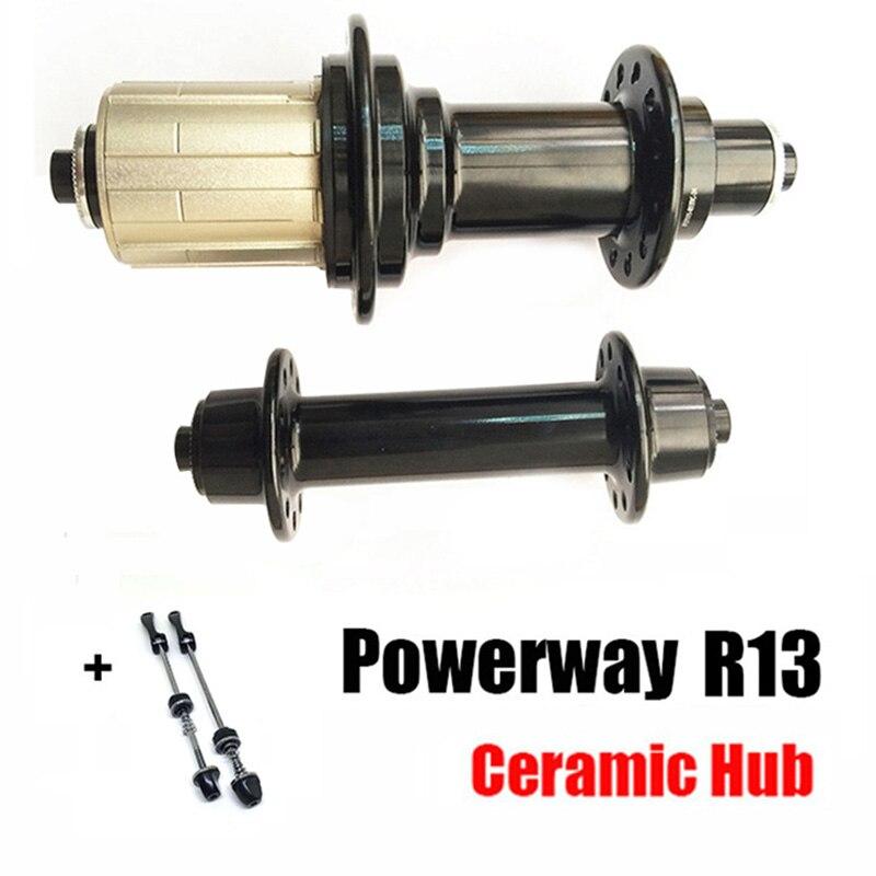 Vélo de route ultra-léger POWERWAY R13 carbone Racer vélo de route j-bend moyeu en aluminium de roulement en céramique pour SHIMAN0 ou Campy 11 S, 20/24 H