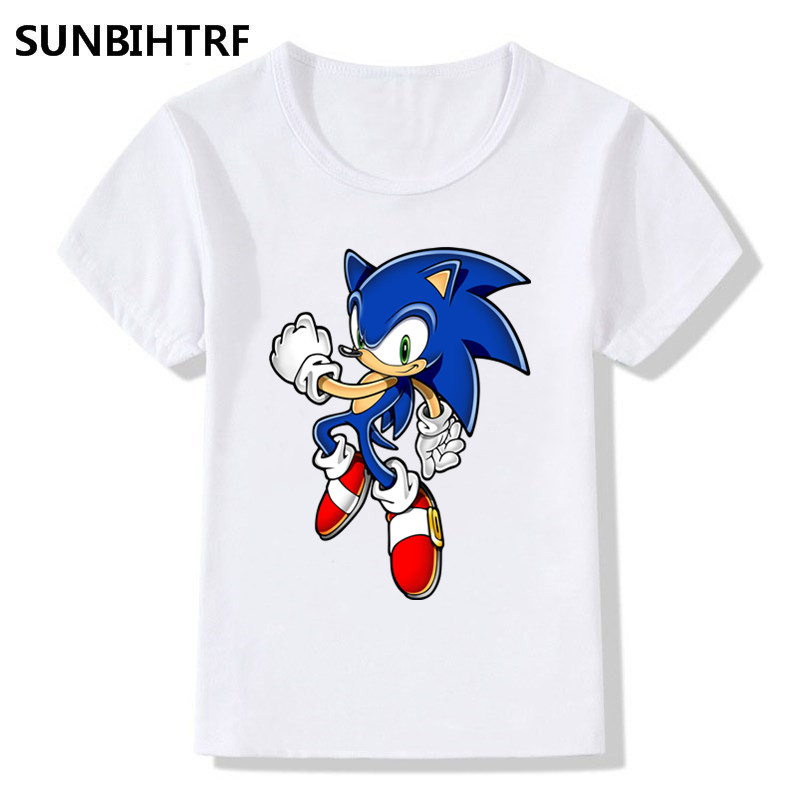 86ceffc2 2018 Children Fashion Sonic The Hedgehog Cartoon Design Funny T Shirts Big  Boys/Girls Tops Tees Kids Casual Clothes For Toddler-in T-Shirts from  Mother ...