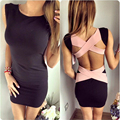 2016 Summer Backless Sexy Club Dress Women Dresses Bandage Patchwork Sheath Sexy Party female vestidos plus size Platya