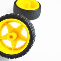 10 шт./лот поддержка колеса умный шасси автомобиля, шины, робот колеса автомобиля для