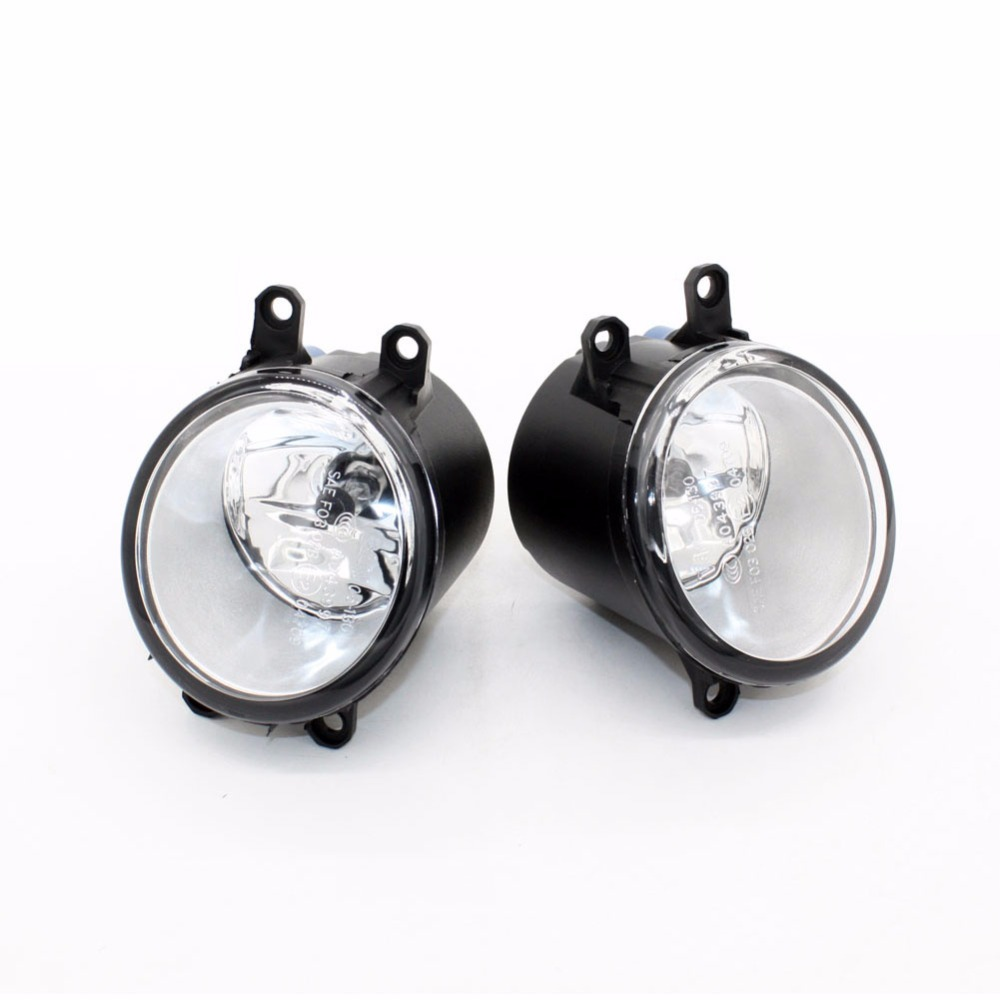 Front Fog Lights for Toyota Corolla Verso (ZER_ZZE_R1_) 2007-2009 12V 55W Auto Lamp bumper Car H11 Halogen Light Bulb Assembly 1set front chrome housing clear lens driving bumper fog light lamp grille cover switch line kit for 2007 2009 toyota camry