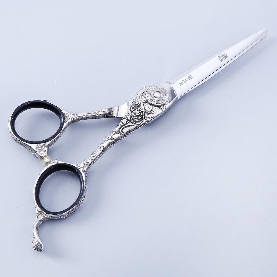SI YUN augstas kvalitātes SUS440C materiāli 5.5 collu (15.00cm) garums YC55 frizētavu modelis izmanto šķēres