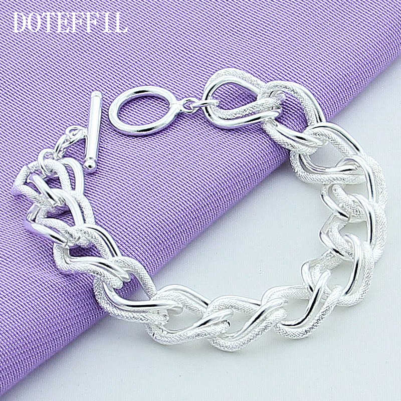Beautiful Fashion Bracelet Free Shipping 925 Silver Color Charm Bracelet Gorgeous Jewelry Plated Silver Chain