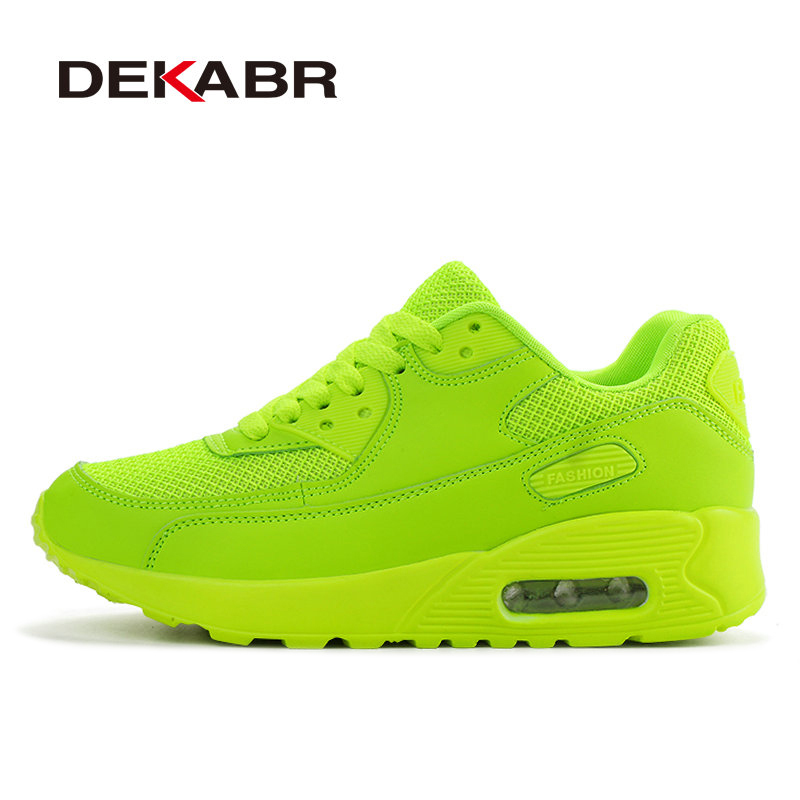 DEKABR  Brand Newest Spring Autumn Running Shoes For Outdoor Comfortable Women Sneakers Men Breathable Sport Shoes Size 35-44 peak sport men outdoor bas basketball shoes medium cut breathable comfortable revolve tech sneakers athletic training boots