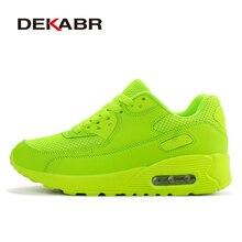 Dekabr/брендовые новинки Демисезонный Кроссовки для бега для наружного удобные Для женщин Спортивная обувь Для мужчин дышащая Спортивная обувь размеры 35–44