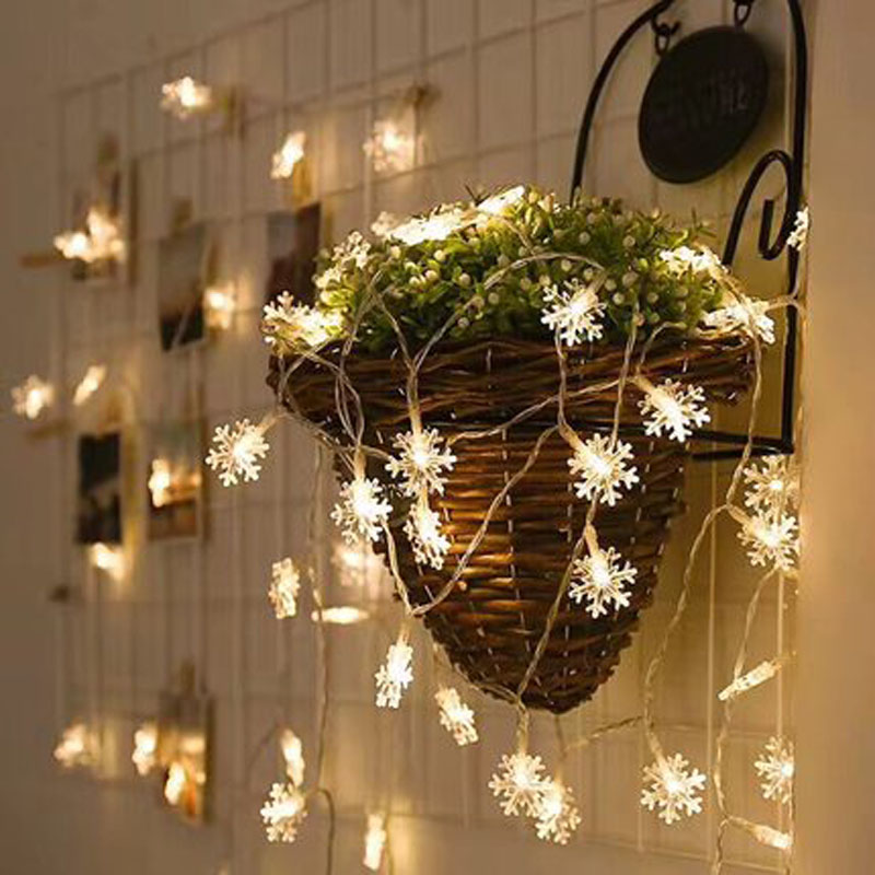 10m/20m/30m/50m Snow LED String Light AC Plug Outdoor Christmas Garland Fairy Light For Wedding Holiday Garden Room Party Decor