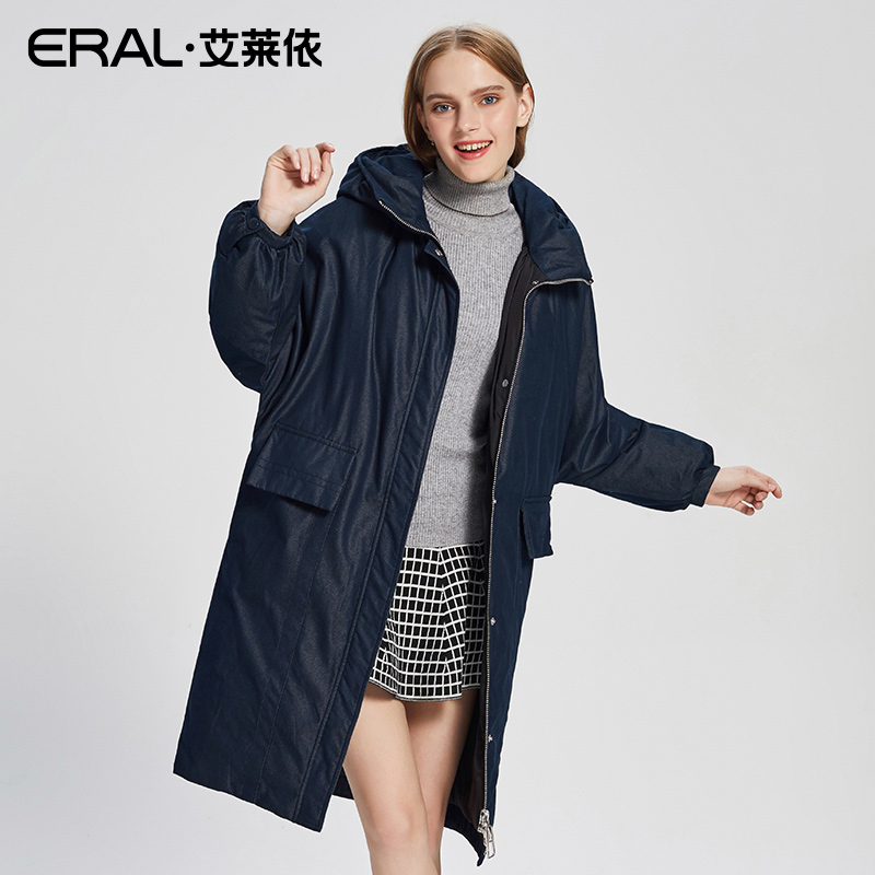 ERAL Womens Casual Hooded Duck Down Jacket New Arrival Female Parkas Coat Plus Size Thermal High Quality Brands ERAL16183-FDAA