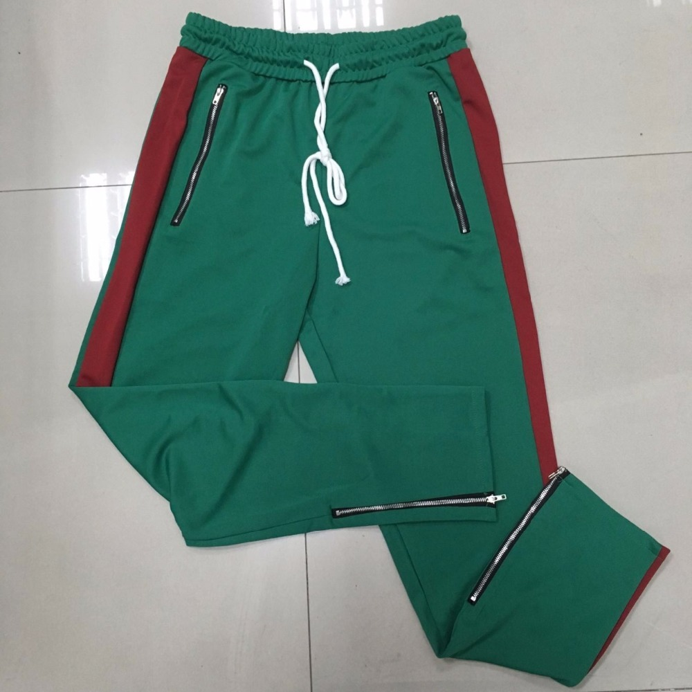 Straight Pant Men Striped Pants Patchwork Color Casual Sweatpants Fleece Workout Active Track Pants Trousers