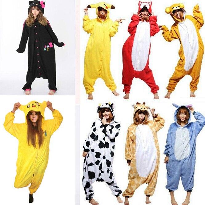Стежка   пикачу   джейк финн   HELLO KITTY черный унисекс взрослые пижамы  косплей костюмы животное Onesie пижама платье Pyjama купить на AliExpress afdc27cd55964