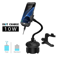 Wirelesls car charger mount clamping 10W Fast charging pad qi phone charger holder GPRS stand for iphone xr samsung s9 s8 huawei