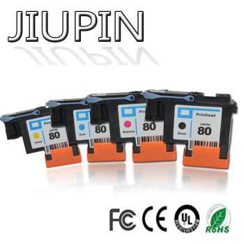 JIUPIN 1SET Compatible for HP 80 printhead Designjet 1000 1050c 1055 Ink Cartridge print head for hp80 cartridges 1 set compatible print head 6 color for hp 81 for designjet 5000 5500 5500ps for hp81 printhead c4950a c4955a cartridge head