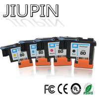 JIUPIN 1SET Compatible for HP 80 printhead Designjet 1000 1050c 1055 Ink Cartridge print head for hp80 cartridges