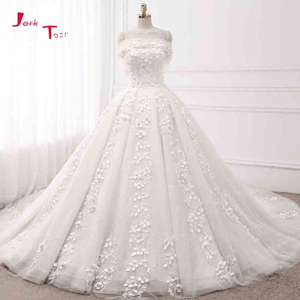 Jark Tozr Custom Made Lace Flowers Princess Ball Gown