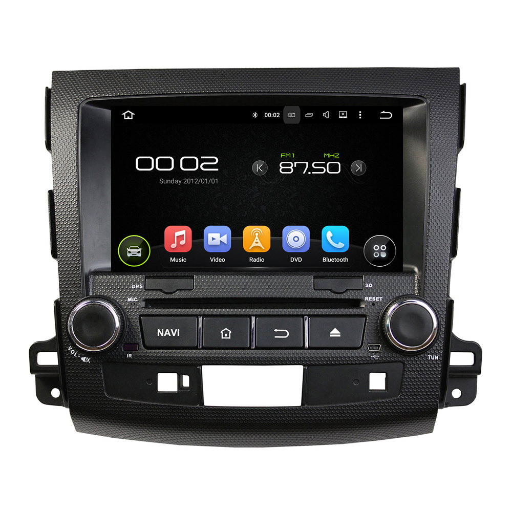 Android 2 Din font b Car b font DVD for Mitsubishi Outlander 200 2012 with Mirror