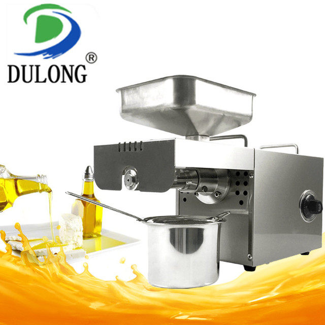 High oil extraction rate oil press machine small peanut oil extraction machine temperature control plant oil processing machine