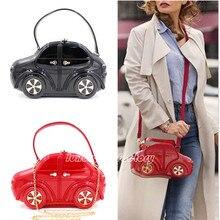 Designer 3D Car Shape Women Evening HandBag Party Clutch Hard Box Purse Chain Shoulder Bag Celebrity Style