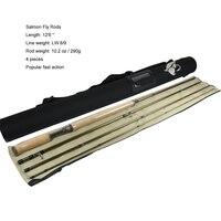 Aventik Бесплатная доставка 12'6 LW8/9 13ft 14ft 4SEC двойной ручной наживка для лосося Рыбалка удочкой лосось удилище Новый