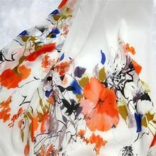 Элегантный чернила Цветочный стиль Koshibo ткани для летнее платье лист шторы куклы потертый шик постельные принадлежности квилтинга скатерть