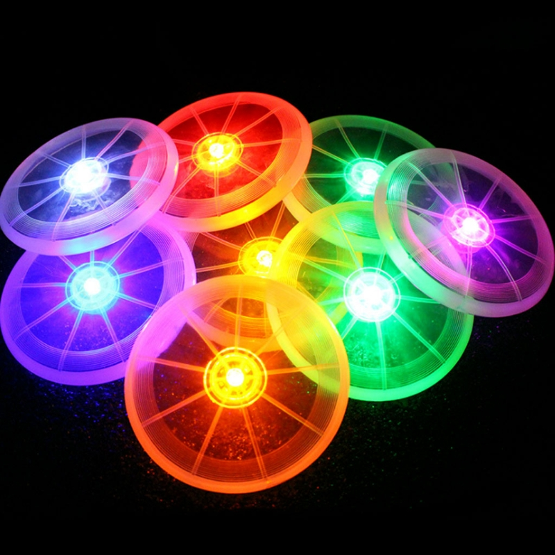 Flashing Funny Flying LED Disk Light Up Outdoor Multi Color Sports Toys