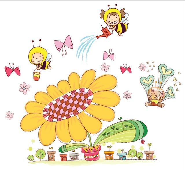 Puppy red Kids Height Chart Wall Sticker Cartoon Giraffe Height ...