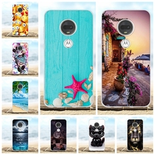 For Motorola Moto G7 Plus Cover Soft TPU Silicone Case Scenery Patterned Capa