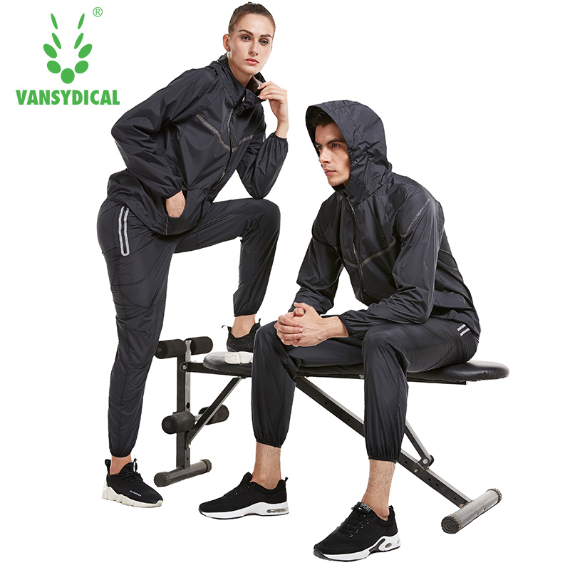 Vansydical Workout Sports Suits Men Gym Tracksuit Women Yoga Sweatsuit Running Sets Lose Weight Sports Suit Fitness Sportswear недорго, оригинальная цена