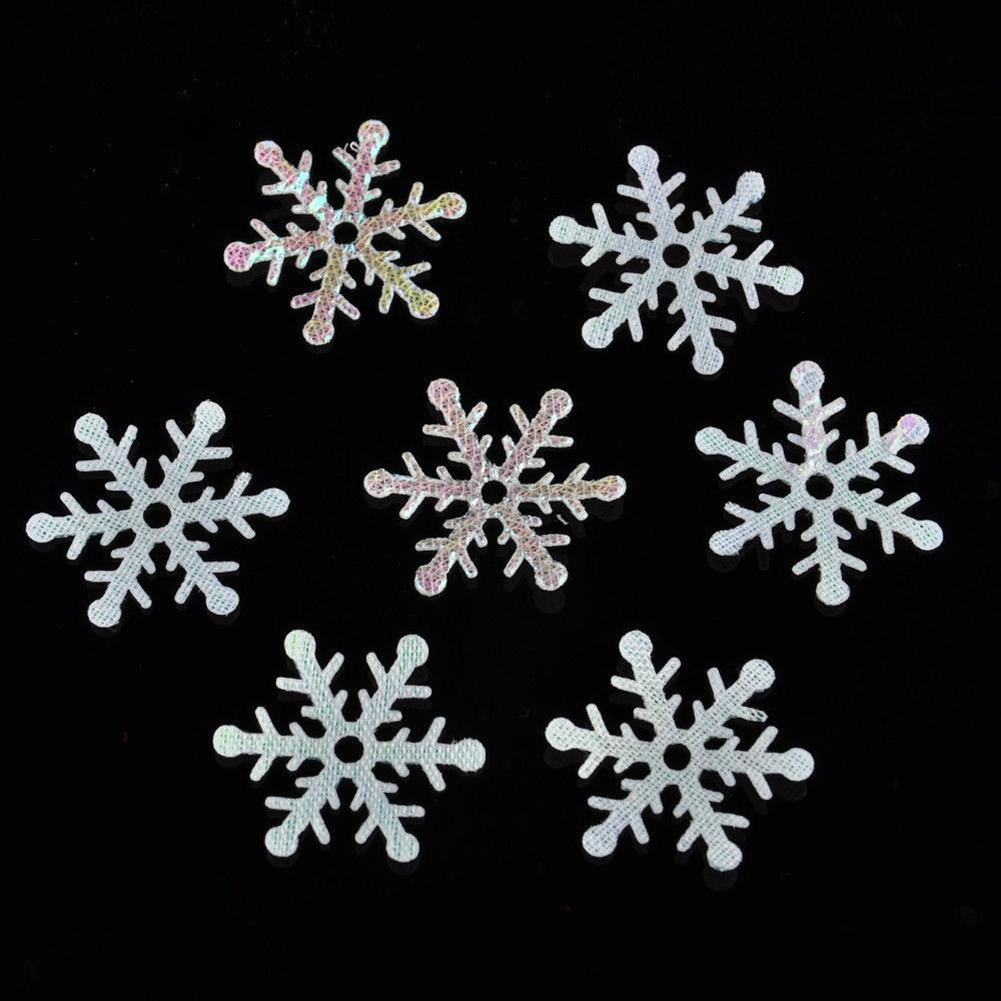 AsyPets 300pcs/Pack Throwing Confetti Christmas Decoration Fake Snowflake Handmade DIY Material -30