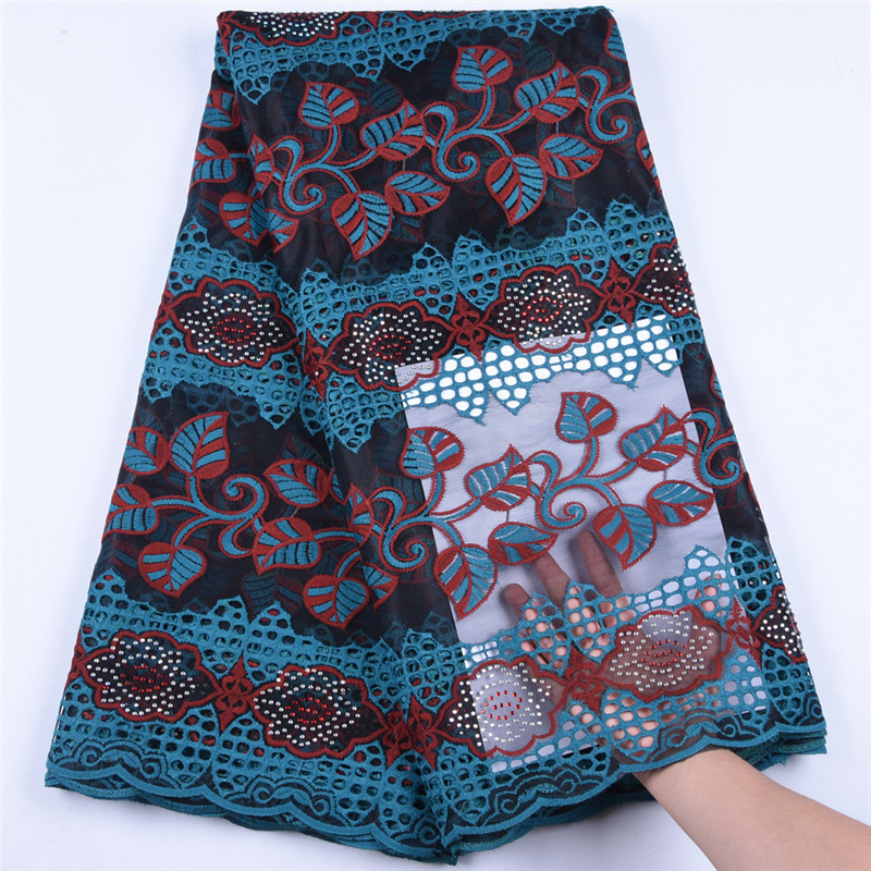 Latest Milk Silk Lace Embroiderd African Lace Fabric High Quality French Mesh Lace Fabric Nigerian Lace