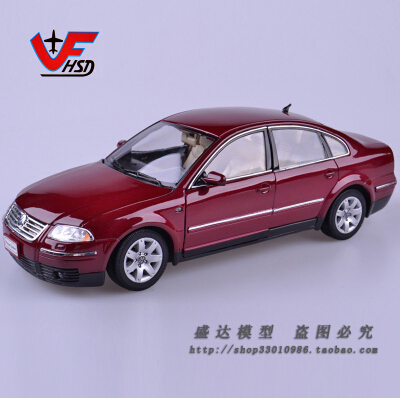 PASSAT SEDAN 1:18 welly origin car model alloy metal Classic cars Volkswagen VW kids toy boy collection gift sliver/red