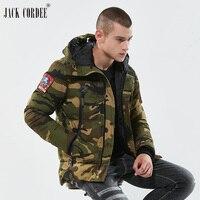 JACK CORDEE Brand Militaire Jassen Mannen Camouflage Hooded Winddicht Dikker Warme Winterjas Mannen Parka Hooded Mannelijke Jassen
