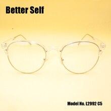 Better Self L2992 Quality Optical Frame Metal Vogue Spectacles PC Myopia Eyeglasses