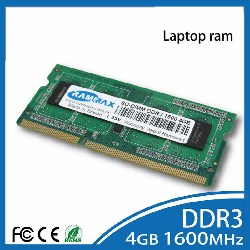 Laptop DDR3 Ram 2GB|4GB|8GB Memory SO-DIMM1600Mhz PC3-12800 Non-ECC 204pin/CL11 high compatible with motherboard of Notebook