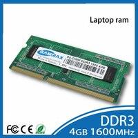 Laptop DDR3 Ram 2GB 4GB 8GB Memory SO DIMM1600Mhz PC3 12800 Non ECC 204pin CL11 High