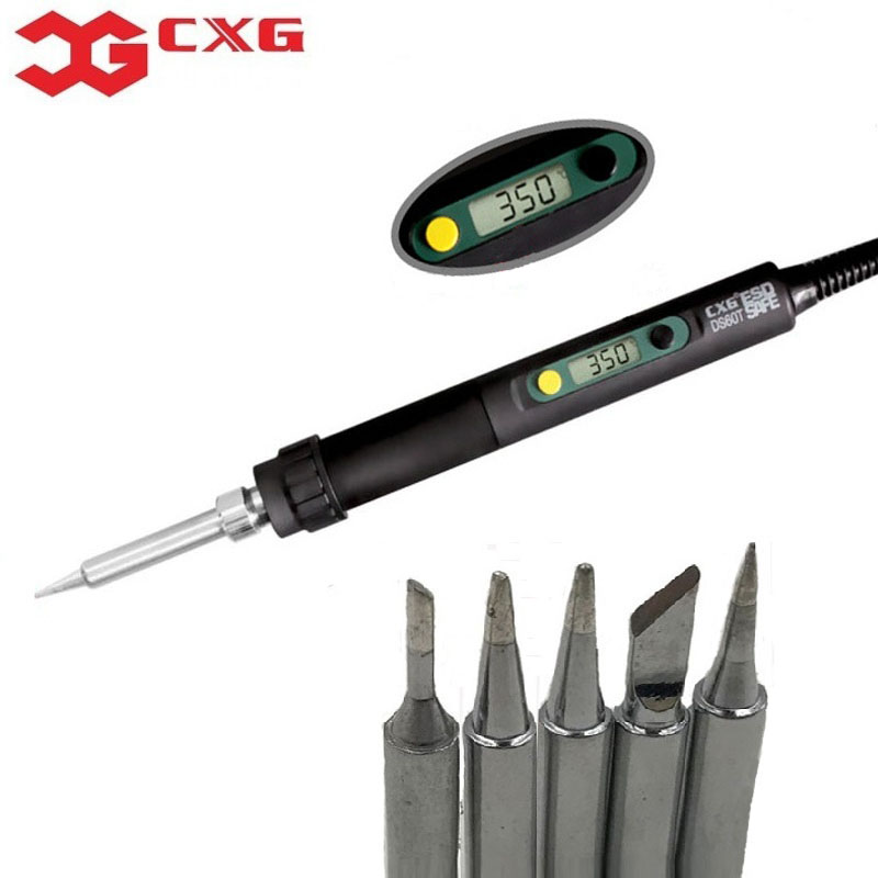 CXG DS60T Soldering Irons welding electric high quality tool iron tip 220V 60W same as HAKKO Free shipping To bring a gift все цены