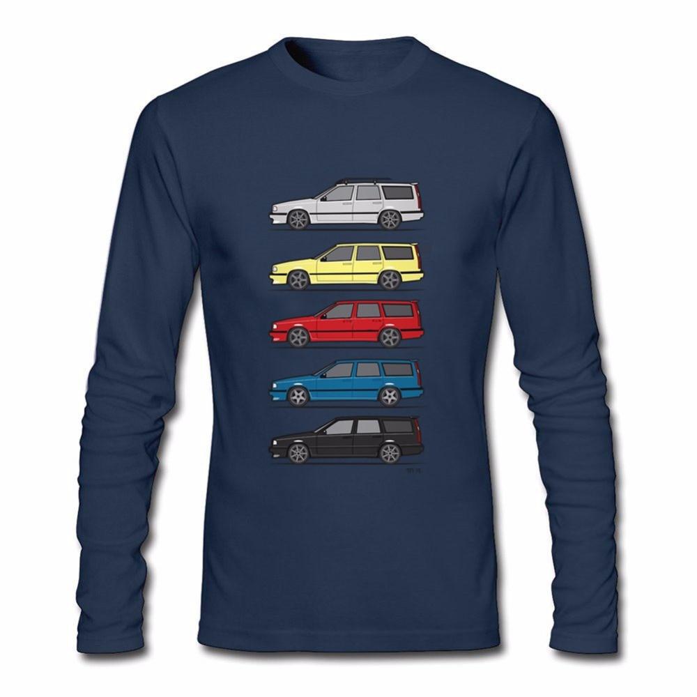 Humor Boys Long Sleeve Tee Shirts Cotton Turbo Wagons Mens T Shirts Volvo 850 V70 T5 Mens T Shirts Boys Oversized Tshirt