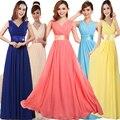 Color personalizado 2017 resortes de la novia de largo azul ata para arriba el vestido de Noche más del tamaño del vendaje formal de graduación de la cremallera vestidos de fiesta