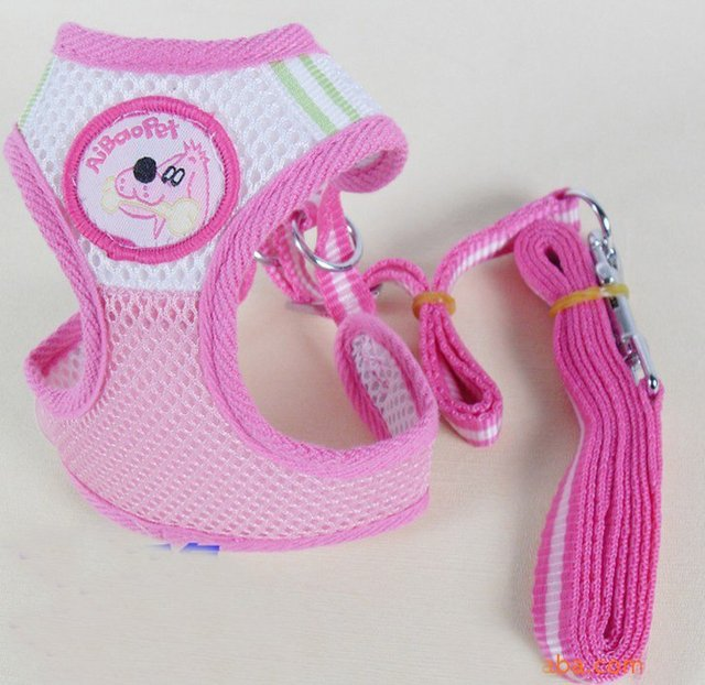 Pet's world Lovely dog Harness Pet Leash set nylon dog leash hot sale dog harness(pink,blue) puppy lead pet harness pet supplies