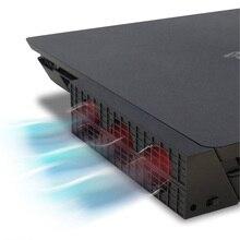 JRGK PS4 тонкий охлаждающий вентилятор консоль кулер умный термостат 3 вентилятора системная станция для sony Playstation 4 PS4 Slim