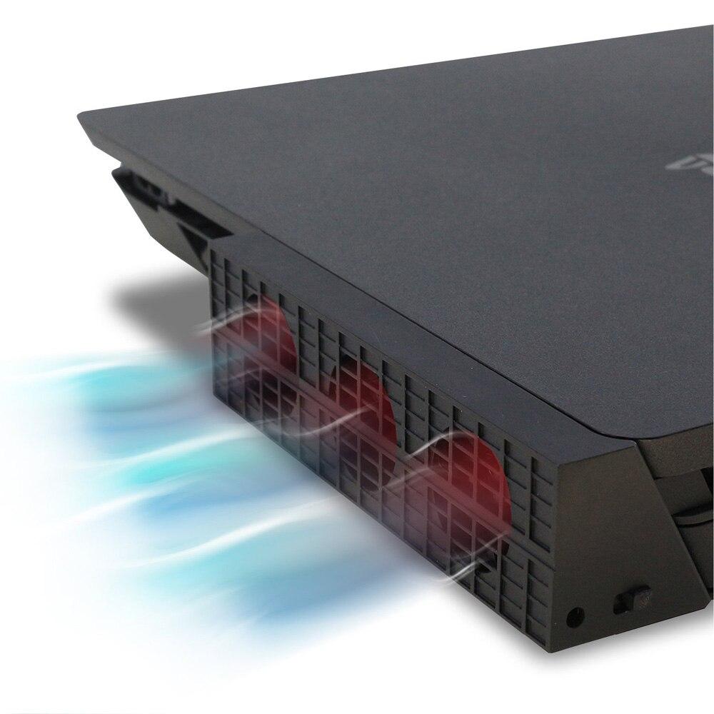 Jrgk ps4 fino ventilador de refrigeração console refrigerador termostato inteligente 3 ventiladores estação do sistema para sony playstation 4 ps4 magro