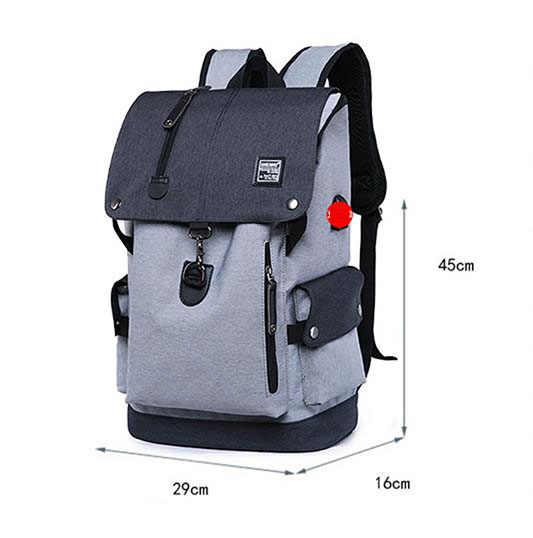 אופנה גברים תרמיל כתף תיק זכר מזדמן נסיעות תרמילי מחשב נייד Bagspack לנערות המוצ 'ילה 2019 W762