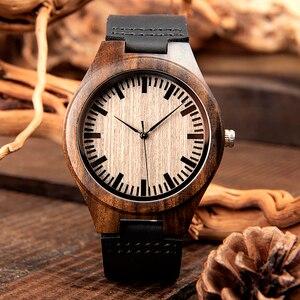 Image 3 - ボボ鳥高級ブランド黒檀時計カスタマイズされたギフトクォーツムーブメント腕時計息子ママパパボーイフレンド刻ま