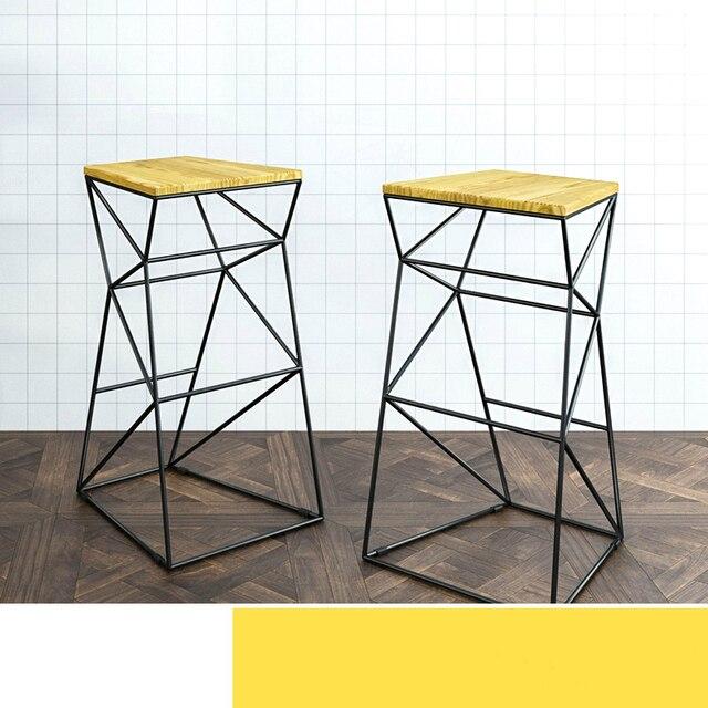 Simple Modern Solid Wood High Chair 38X33X75CM Bar Stool Backrest Fashion  Bar Chair