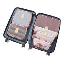 6 Pcs/Set Travel Bags Woman Packing Cube Portable Clothing Underwear Sorting Organizer Lug