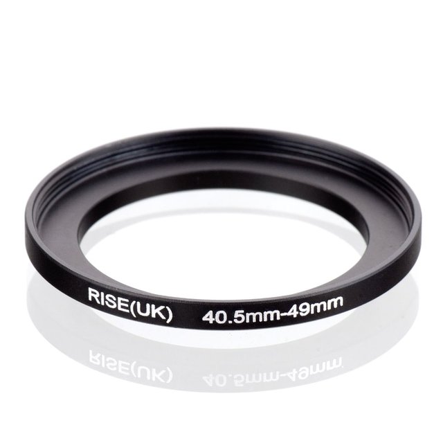 Oryginalny RISE (UK) 40.5mm 49mm 40.5 49mm 40.5 do 49 pierścień redukcyjny adapter do filtra czarny