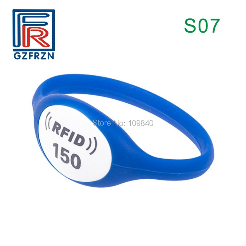 100pcs/lot S07 Style NTAG213 Silicone Wristband ISO14443A NFC Waterproof Watch Type Card Bracelet For Event Payment