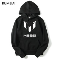 New Autumn Fashion Brand Hoodies Men MESSI Print Casual Sportswear Man Hoody Long Sleeved Sweatshirt Mens