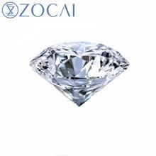 ZOCAI GIA Certified Loose Diamond Real 1.0 Carat Round Diamond D/ VVS2 / EX Diamond